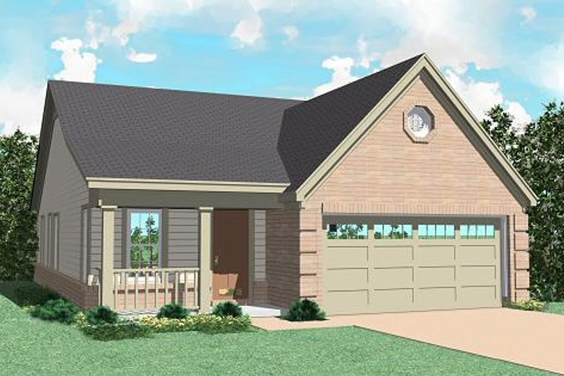 Ranch Style House Plan - 3 Beds 2 Baths 1199 Sq/Ft Plan #81-148