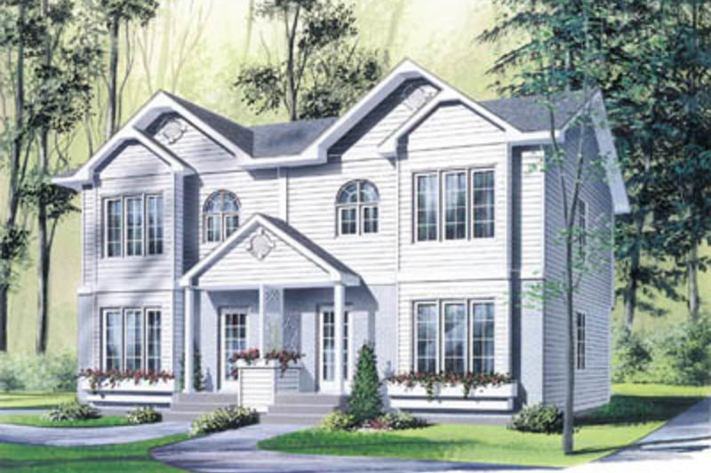 Colonial Exterior - Front Elevation Plan #23-2149