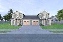Dream House Plan - Craftsman Exterior - Front Elevation Plan #1070-95