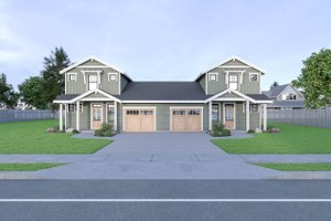 House Plan Design - Craftsman Exterior - Front Elevation Plan #1070-95
