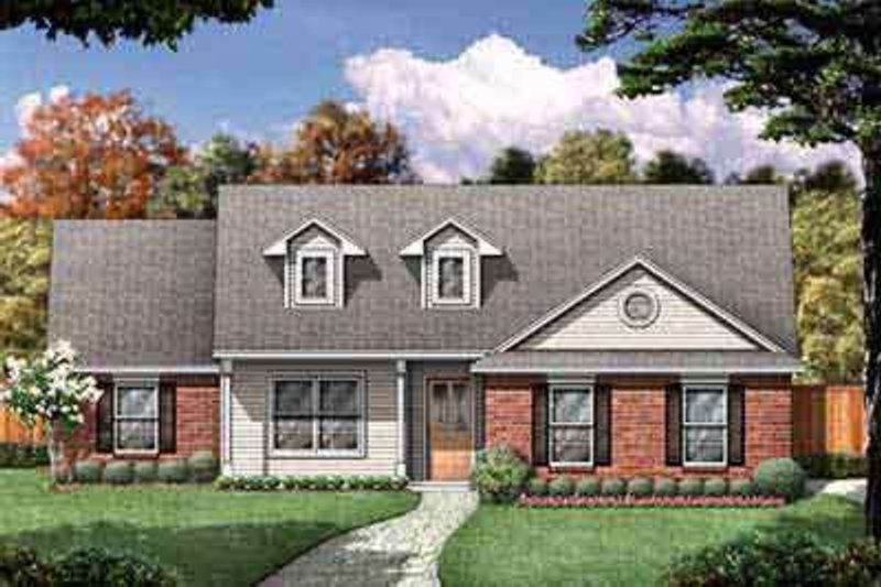Traditional Exterior - Front Elevation Plan #84-224 - Houseplans.com