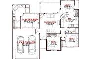 European Style House Plan - 3 Beds 2 Baths 1502 Sq/Ft Plan #63-366 Floor Plan - Main Floor Plan