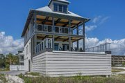 Beach Style House Plan - 4 Beds 3 Baths 2810 Sq/Ft Plan #901-114 Exterior - Other Elevation
