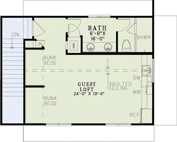 Craftsman Floor Plan - Upper Floor Plan Plan #17-2578