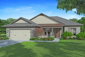 Dream House Plan - Craftsman Exterior - Front Elevation Plan #938-101