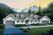 Dream House Plan - Traditional Exterior - Front Elevation Plan #57-189