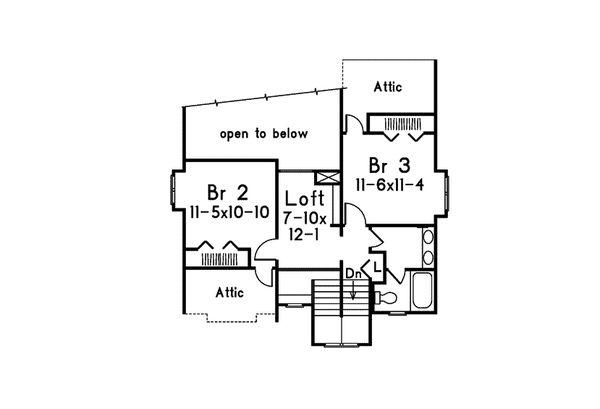 Dream House Plan - Modern Floor Plan - Upper Floor Plan #57-673