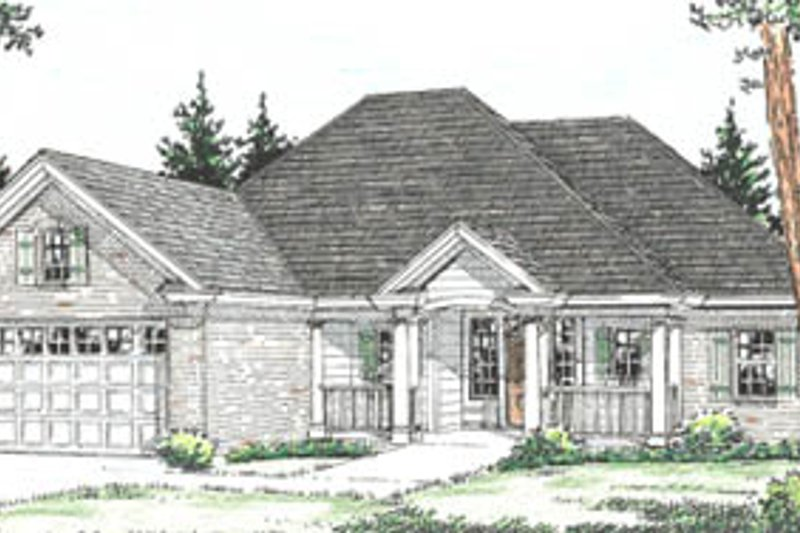 Home Plan - Traditional Exterior - Front Elevation Plan #20-376