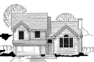 Traditional Exterior - Front Elevation Plan #67-113