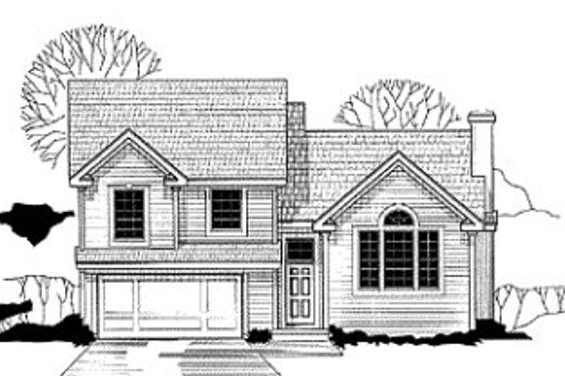 Traditional Style House Plan - 3 Beds 2 Baths 1328 Sq/Ft Plan #67-113 Exterior - Front Elevation
