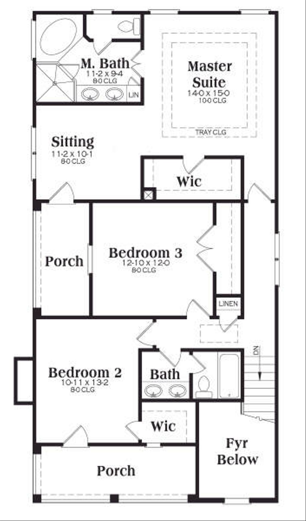Southern style house plan 3 beds 2 5 baths 1785 sq ft for Www floorplans com