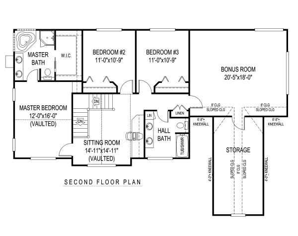 Country Floor Plan - Upper Floor Plan Plan #11-220