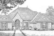 European Style House Plan - 4 Beds 3 Baths 2736 Sq/Ft Plan #310-382 Exterior - Front Elevation
