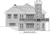 Traditional Style House Plan - 3 Beds 2 Baths 1996 Sq/Ft Plan #138-340 Exterior - Rear Elevation