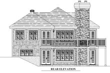 Home Plan - Traditional Exterior - Rear Elevation Plan #138-340