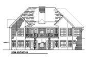 European Style House Plan - 4 Beds 3.5 Baths 4145 Sq/Ft Plan #123-110 Exterior - Rear Elevation