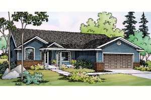 House Design - Ranch Exterior - Front Elevation Plan #124-379