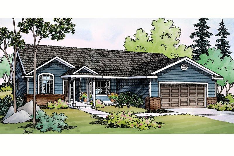 House Plan Design - Ranch Exterior - Front Elevation Plan #124-379