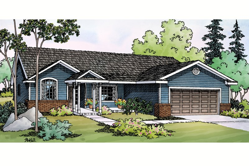 Home Plan - Ranch Exterior - Front Elevation Plan #124-379