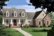 Country Style House Plan - 3 Beds 2 Baths 1800 Sq/Ft Plan #21-190 Exterior - Front Elevation