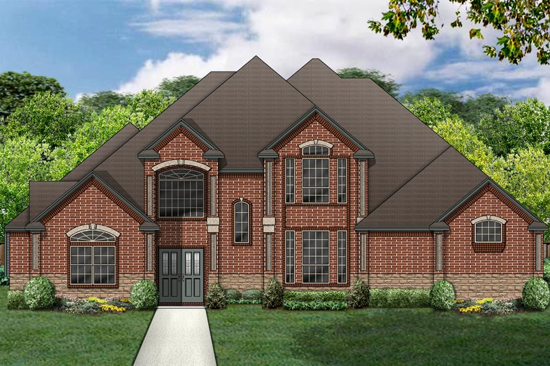 Traditional Exterior - Front Elevation Plan #84-418 - Houseplans.com
