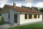 Bungalow Style House Plan - 3 Beds 1 Baths 853 Sq/Ft Plan #906-17