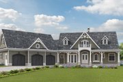 Craftsman Style House Plan - 3 Beds 2.5 Baths 2947 Sq/Ft Plan #54-398 Exterior - Front Elevation