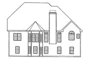 Traditional Style House Plan - 4 Beds 3 Baths 2286 Sq/Ft Plan #927-10 Exterior - Rear Elevation