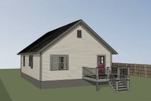 Dream House Plan - Cottage Exterior - Rear Elevation Plan #79-134