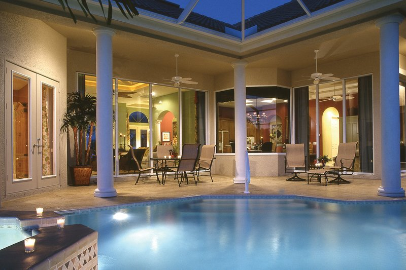 Mediterranean Exterior - Outdoor Living Plan #930-14 - Houseplans.com