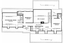 Southern Floor Plan - Upper Floor Plan Plan #137-123