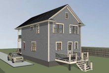 Southern Exterior - Front Elevation Plan #79-199