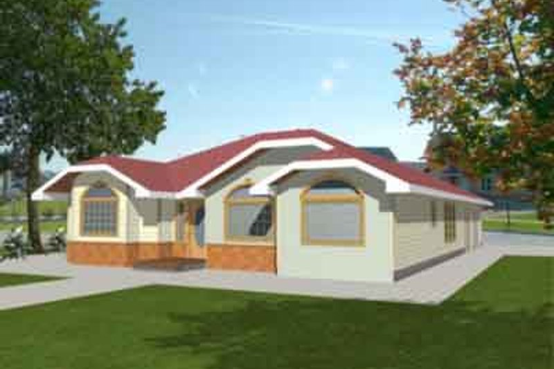 Traditional Exterior - Front Elevation Plan #117-206