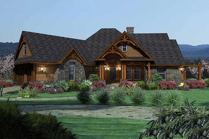 Craftsman Exterior - Front Elevation Plan #120-162 - Houseplans.com