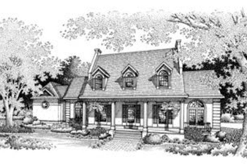 Southern Exterior - Front Elevation Plan #45-207