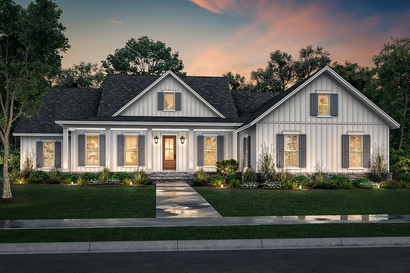 Farmhouse Style House Plan - 4 Beds 2.5 Baths 2607 Sq/Ft Plan #430-232
