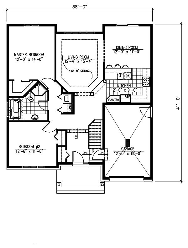 Craftsman Floor Plan - Main Floor Plan Plan #138-359
