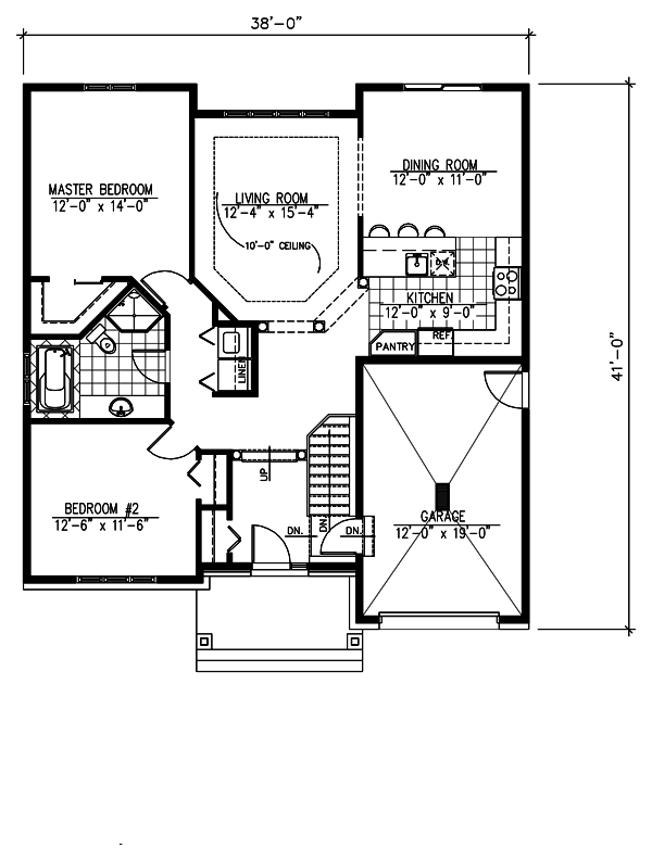 Craftsman Floor Plan - Main Floor Plan Plan #138-359