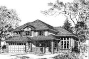 Traditional Style House Plan - 4 Beds 2.5 Baths 2411 Sq/Ft Plan #312-539 Exterior - Other Elevation
