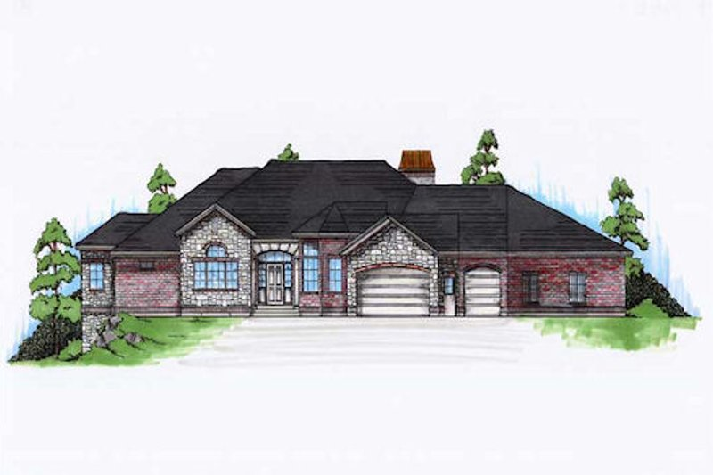 Dream House Plan - European Exterior - Front Elevation Plan #5-296