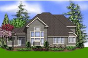 Traditional Style House Plan - 3 Beds 2.5 Baths 2803 Sq/Ft Plan #48-159 Exterior - Rear Elevation
