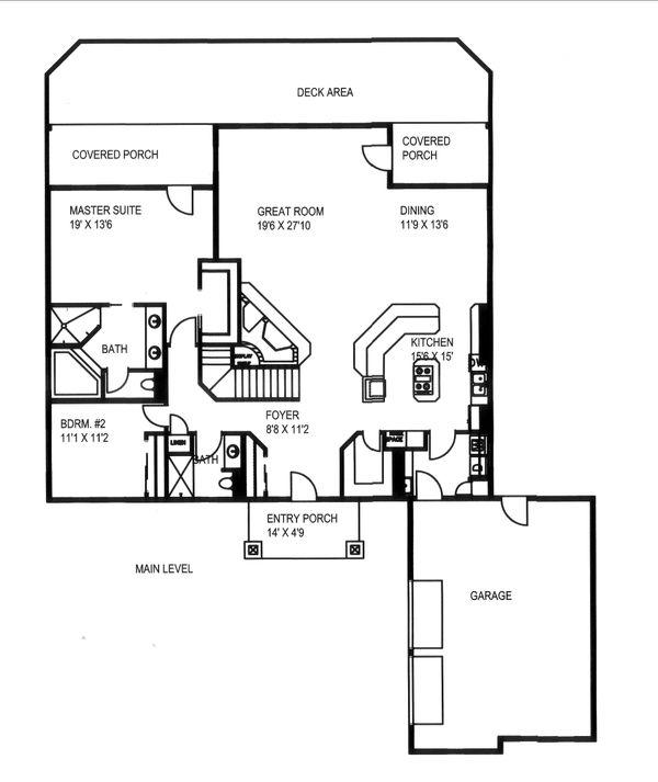 House Design - Craftsman Floor Plan - Main Floor Plan #117-891