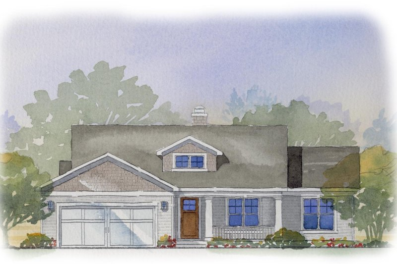Traditional Style House Plan - 4 Beds 3 Baths 2228 Sq/Ft Plan #901-44 Exterior - Front Elevation