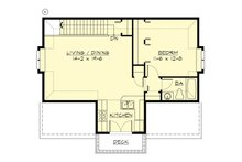 Cottage Floor Plan - Upper Floor Plan Plan #132-189