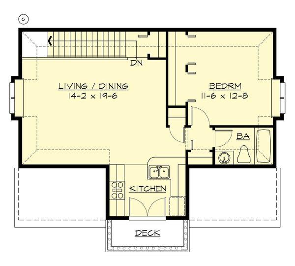 Cottage Floor Plan - Upper Floor Plan Plan #132-189