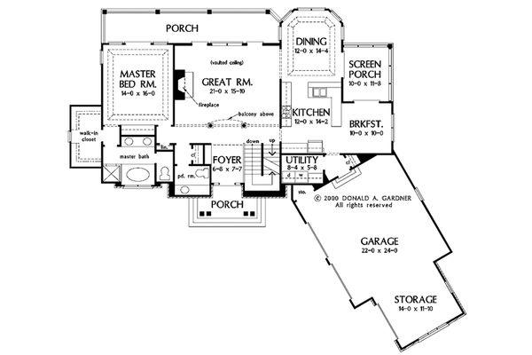 European Floor Plan - Main Floor Plan Plan #929-41