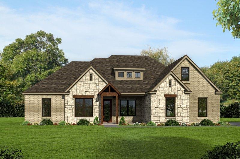 Dream House Plan - Craftsman Exterior - Front Elevation Plan #932-280