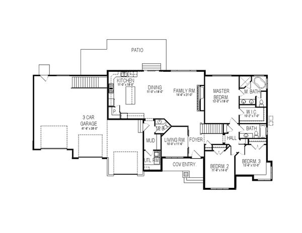 Architectural House Design - Contemporary Floor Plan - Main Floor Plan #920-26