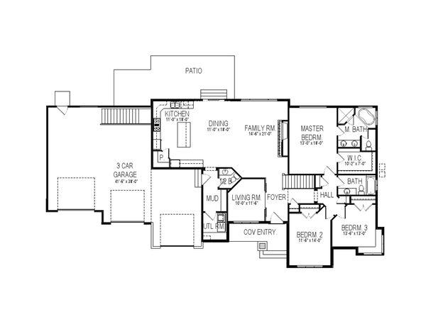 Contemporary Floor Plan - Main Floor Plan Plan #920-26