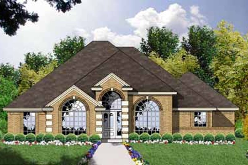 European Exterior - Front Elevation Plan #40-114 - Houseplans.com